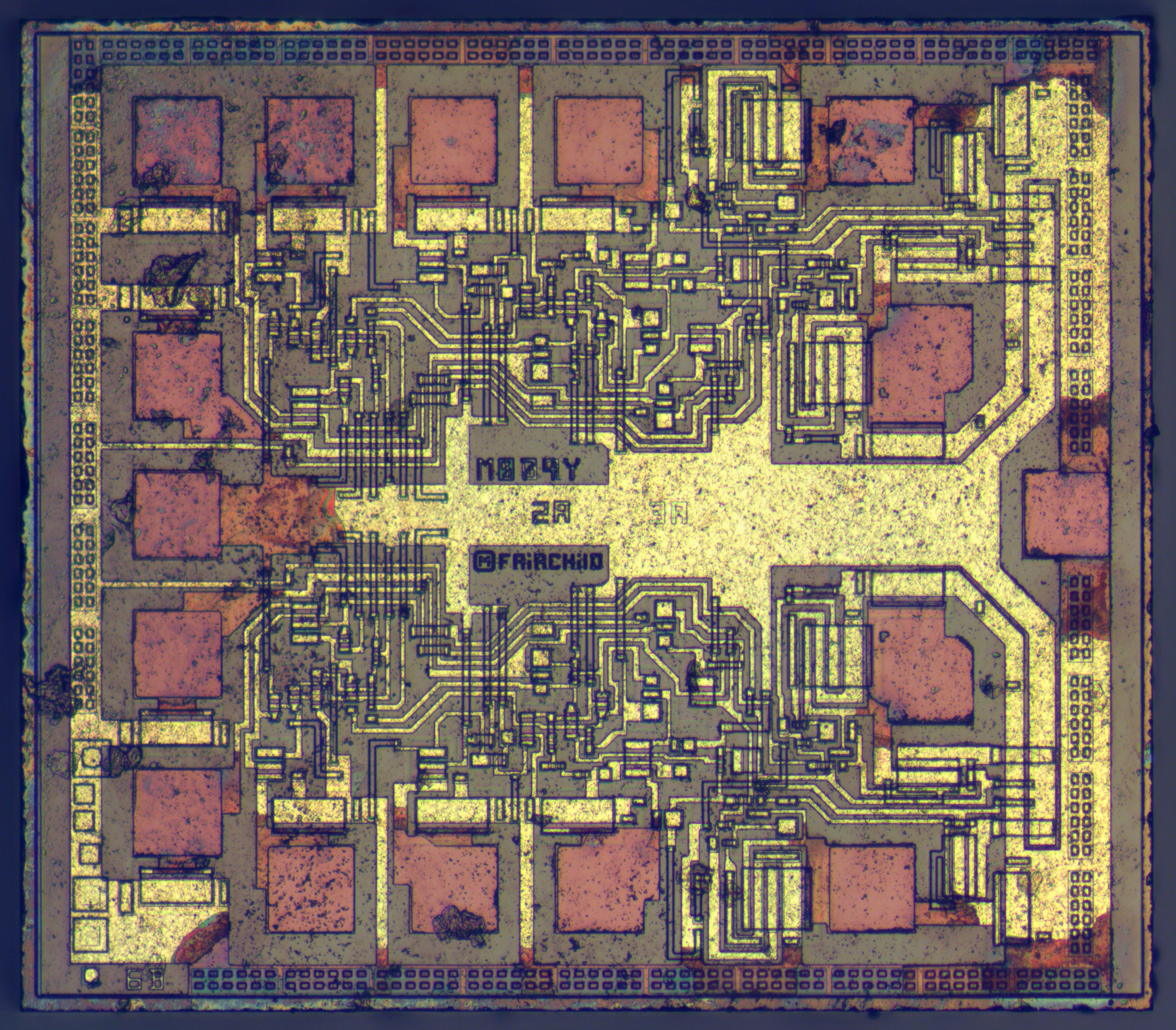 Zeptobars 7400 Ic Chip For Pinterest Fairchild 74f109pc Dual Jk Flip Flop Weekend Die Shot